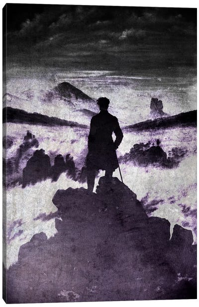 Wanderer above the Sea of Fog I Canvas Art Print