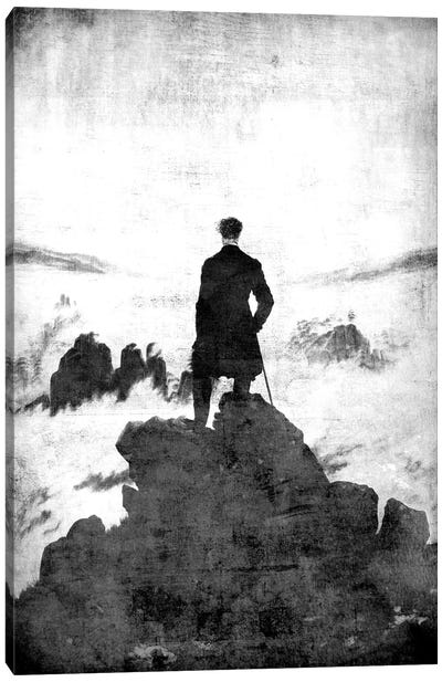 Wanderer above the Sea of Fog II Canvas Art Print