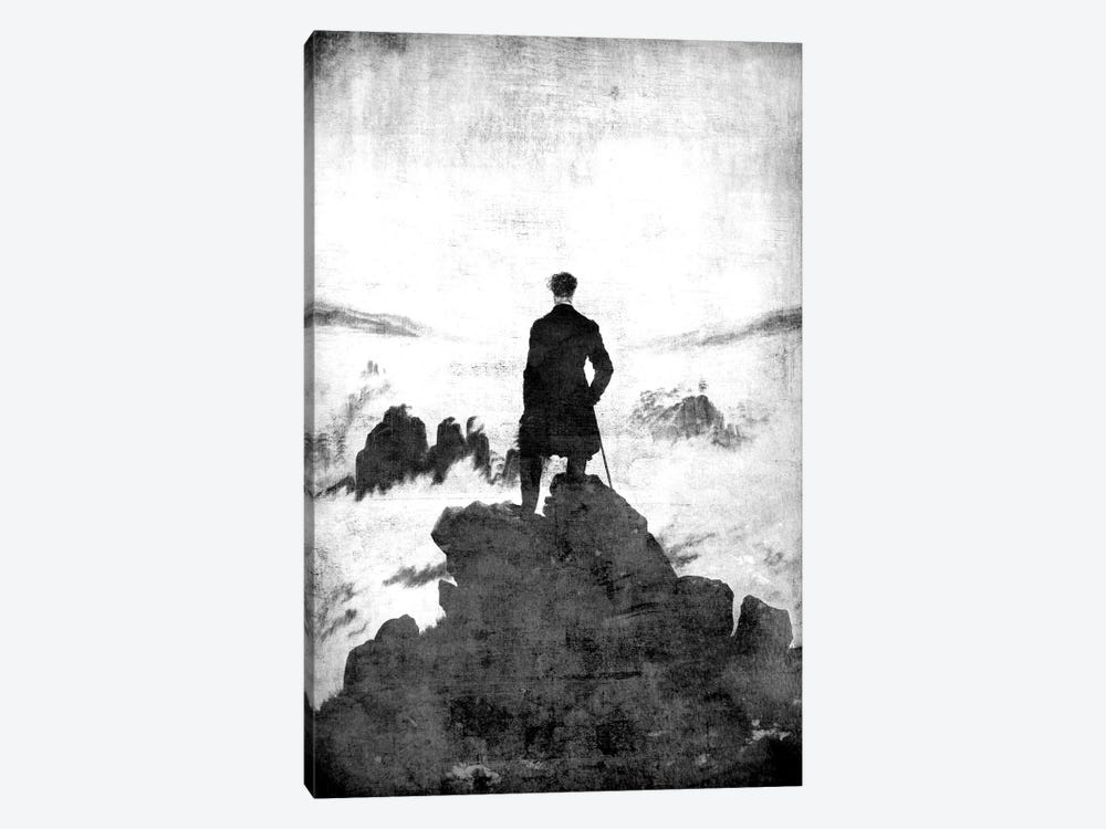 Wanderer above the Sea of Fog II by 5by5collective 1-piece Canvas Wall Art