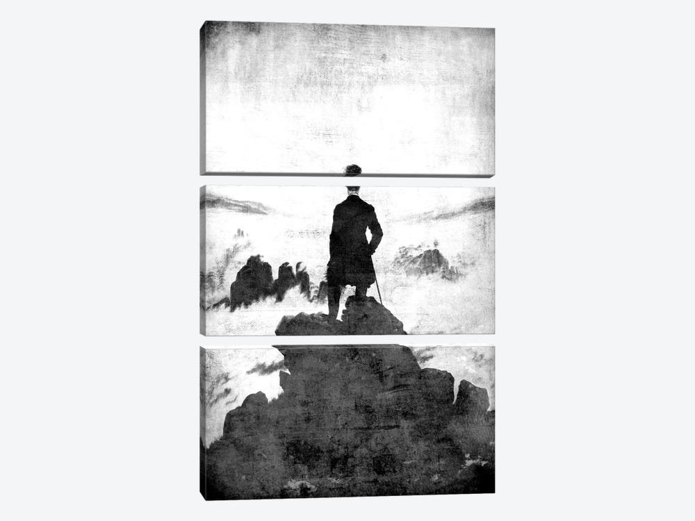 Wanderer above the Sea of Fog II by 5by5collective 3-piece Canvas Wall Art