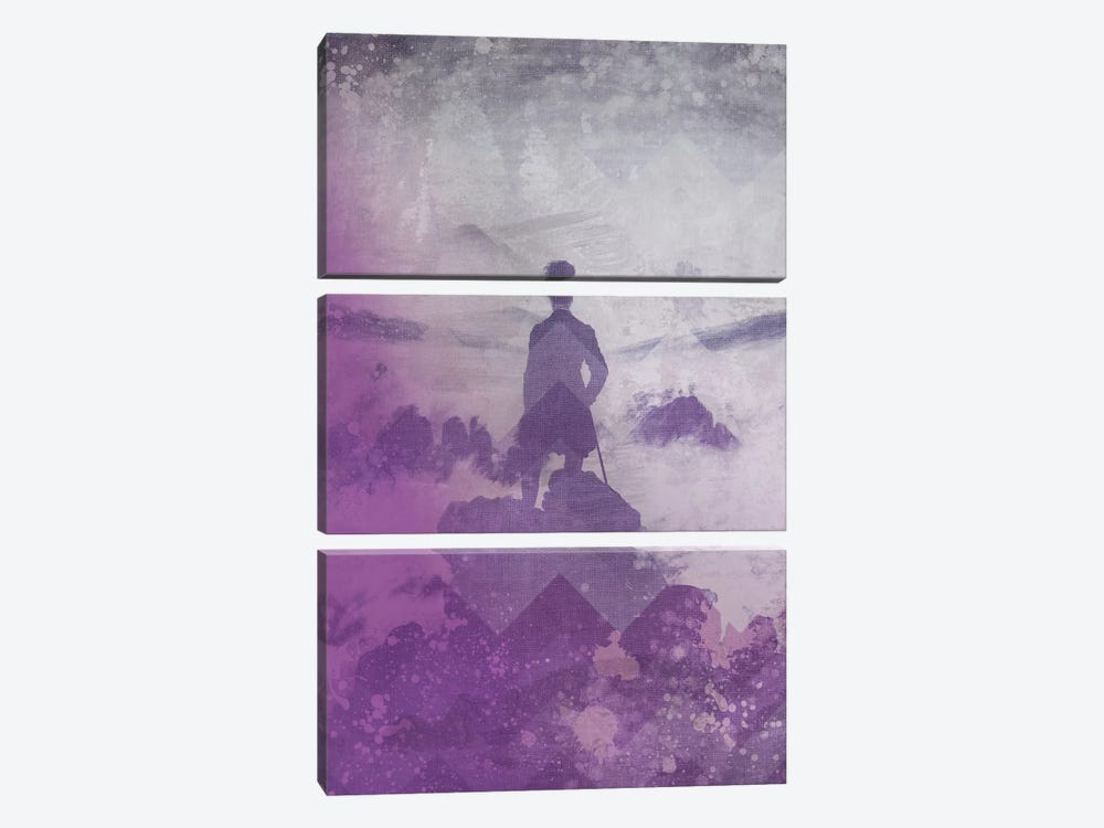 Wanderer above the Sea of Fog III by 5by5collective 3-piece Art Print