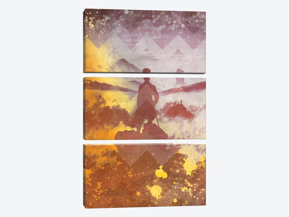 Wanderer above the Sea of Fog IV by 5by5collective 3-piece Canvas Art