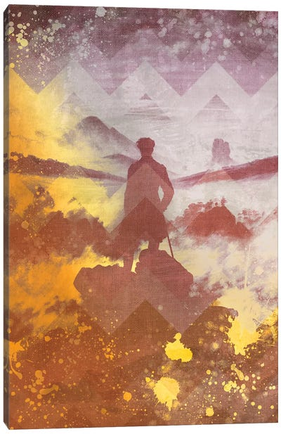 Wanderer above the Sea of Fog IV Canvas Art Print