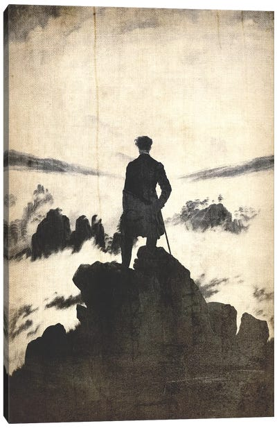 Wanderer above the Sea of Fog V Canvas Print #CML149