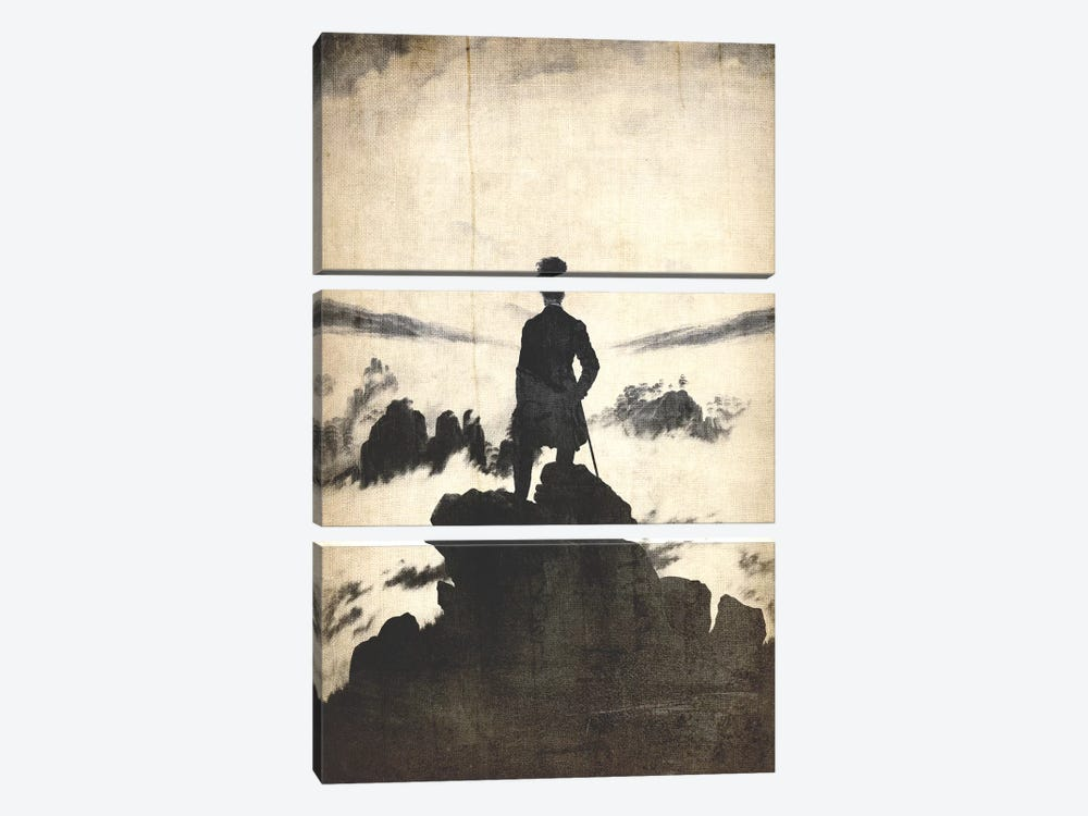 Wanderer above the Sea of Fog V by 5by5collective 3-piece Canvas Art Print