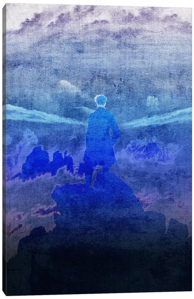 Wanderer above the Sea of Fog VI Canvas Print #CML150