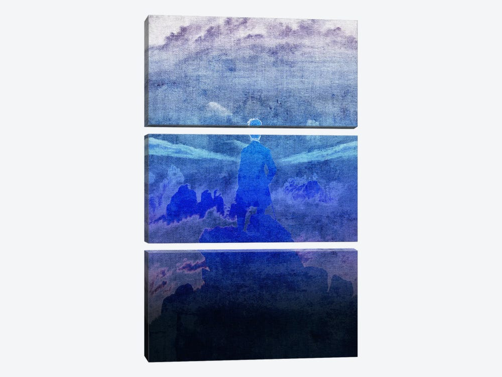 Wanderer above the Sea of Fog VI by 5by5collective 3-piece Canvas Art Print