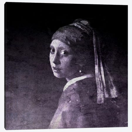Girl with a Pearl Earring V Canvas Print #CML159} by 5by5collective Canvas Wall Art