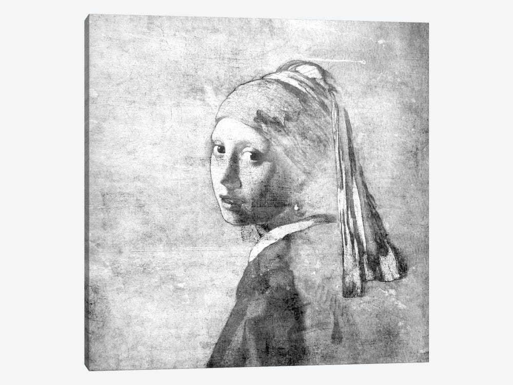 Girl with a Pearl Earring VI by 5by5collective 1-piece Canvas Wall Art