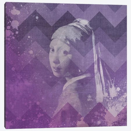 Girl with a Pearl Earring VII Canvas Print #CML161} by 5by5collective Art Print