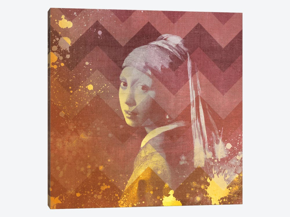 Girl with a Pearl Earring VIII by 5by5collective 1-piece Canvas Wall Art
