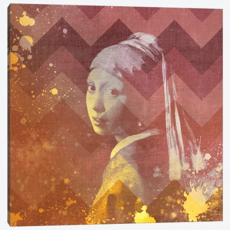 Girl with a Pearl Earring VIII Canvas Print #CML162} by 5by5collective Art Print