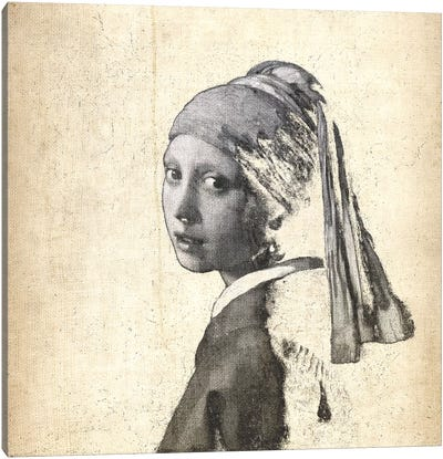 Girl with a Pearl Earring IX Canvas Art Print