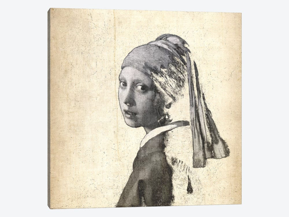 Girl with a Pearl Earring IX by 5by5collective 1-piece Canvas Print
