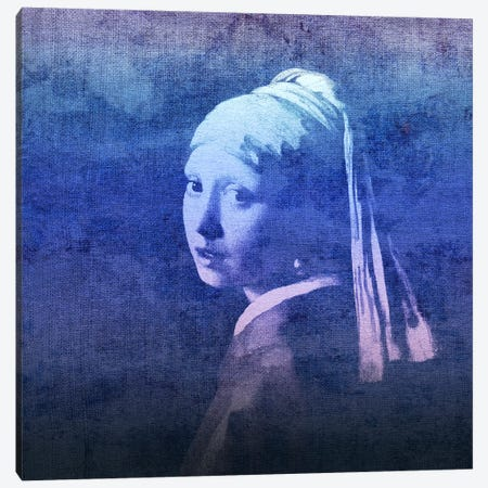 Girl with a Pearl Earring X Canvas Print #CML164} by 5by5collective Canvas Artwork