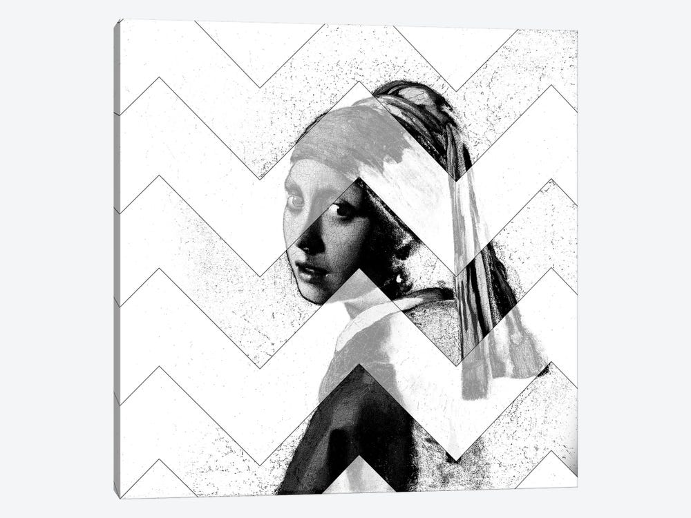 Girl with a Pearl Earring XI by 5by5collective 1-piece Canvas Print