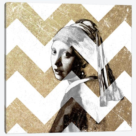 Girl with a Pearl Earring XII Canvas Print #CML166} by 5by5collective Canvas Wall Art