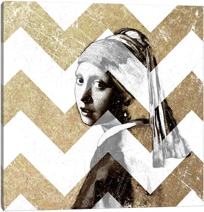 Girl with a Pearl Earring XII Canvas Art Print