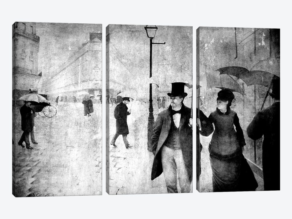 Paris Street II by 5by5collective 3-piece Canvas Print