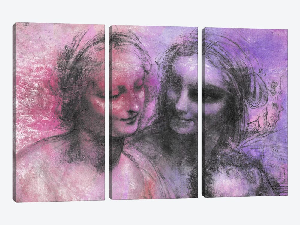 The Virgin and Child V by 5by5collective 3-piece Canvas Artwork