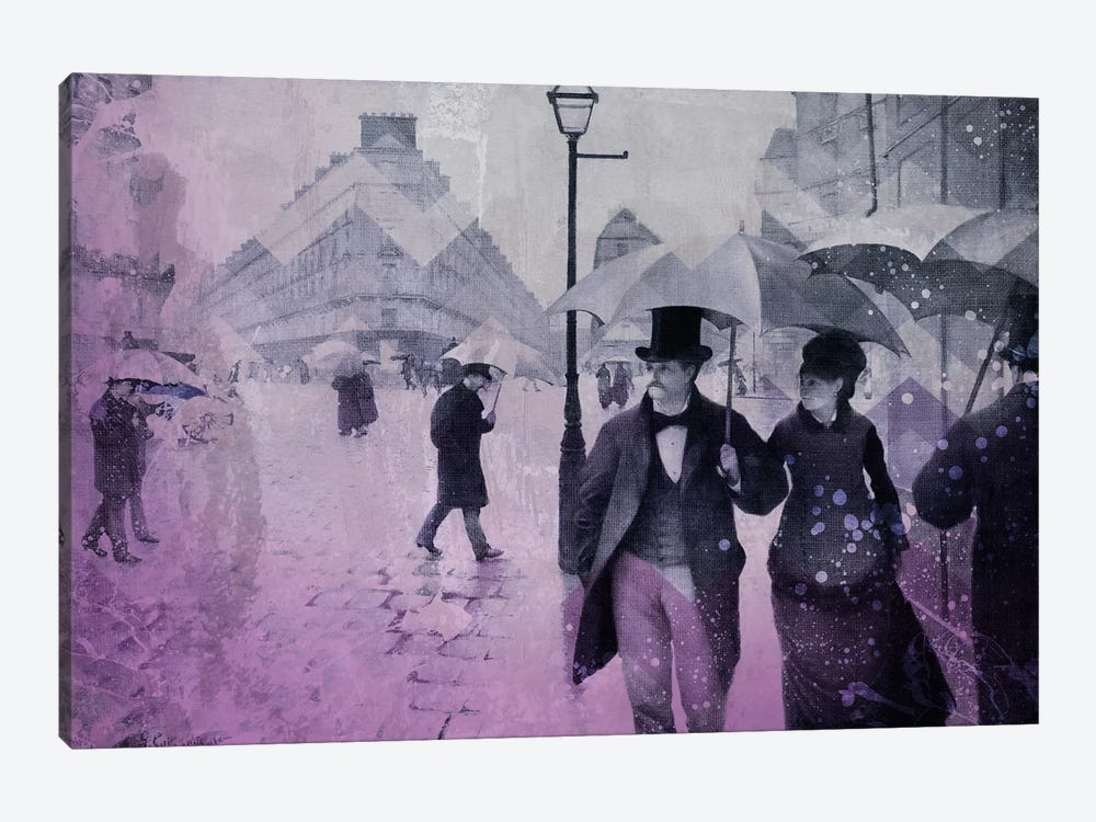 Paris Street III 1-piece Canvas Artwork