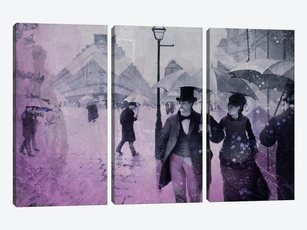 Paris Street III by 5by5collective 3-piece Canvas Art