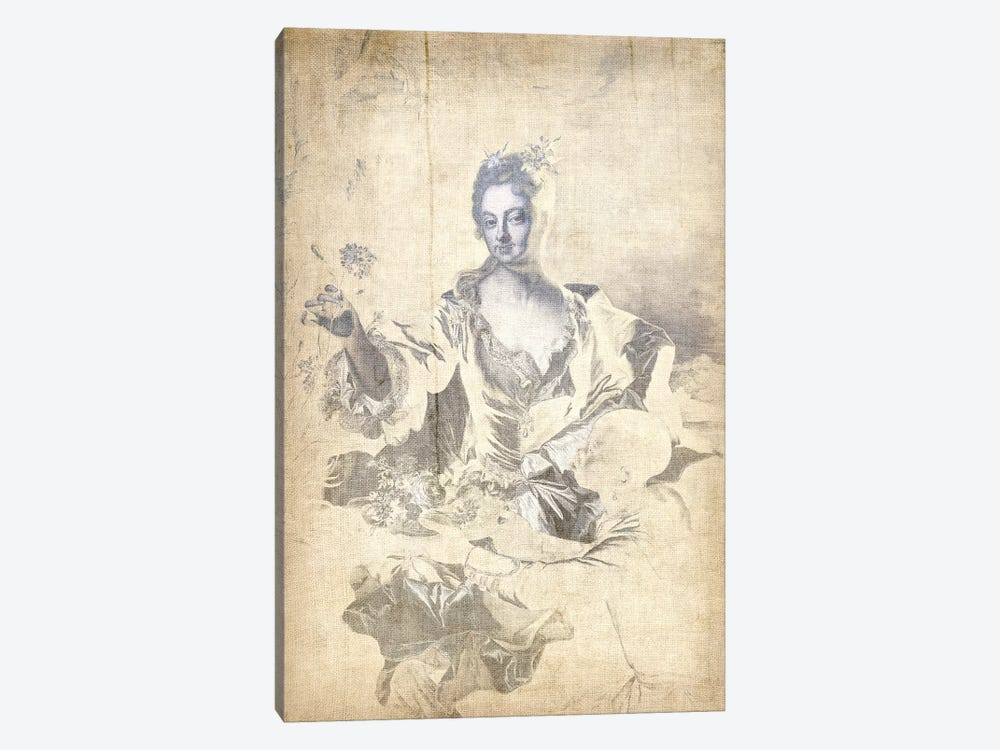 Portrait of Hyacinthe-Sophie de Beschanel-Nointel V by 5by5collective 1-piece Canvas Wall Art