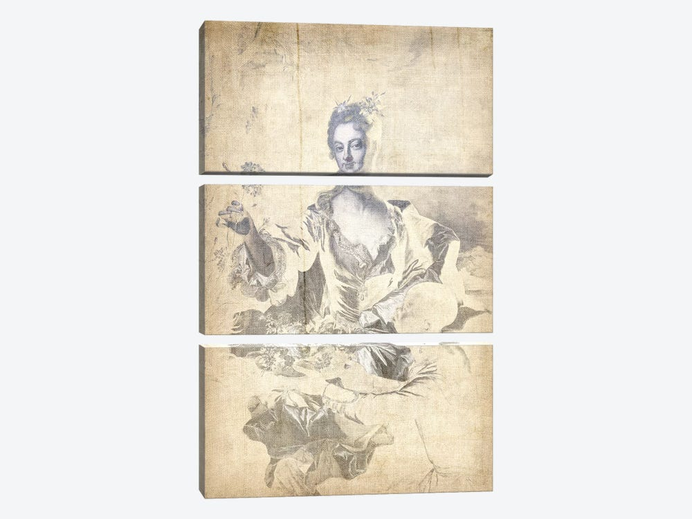 Portrait of Hyacinthe-Sophie de Beschanel-Nointel V by 5by5collective 3-piece Canvas Art