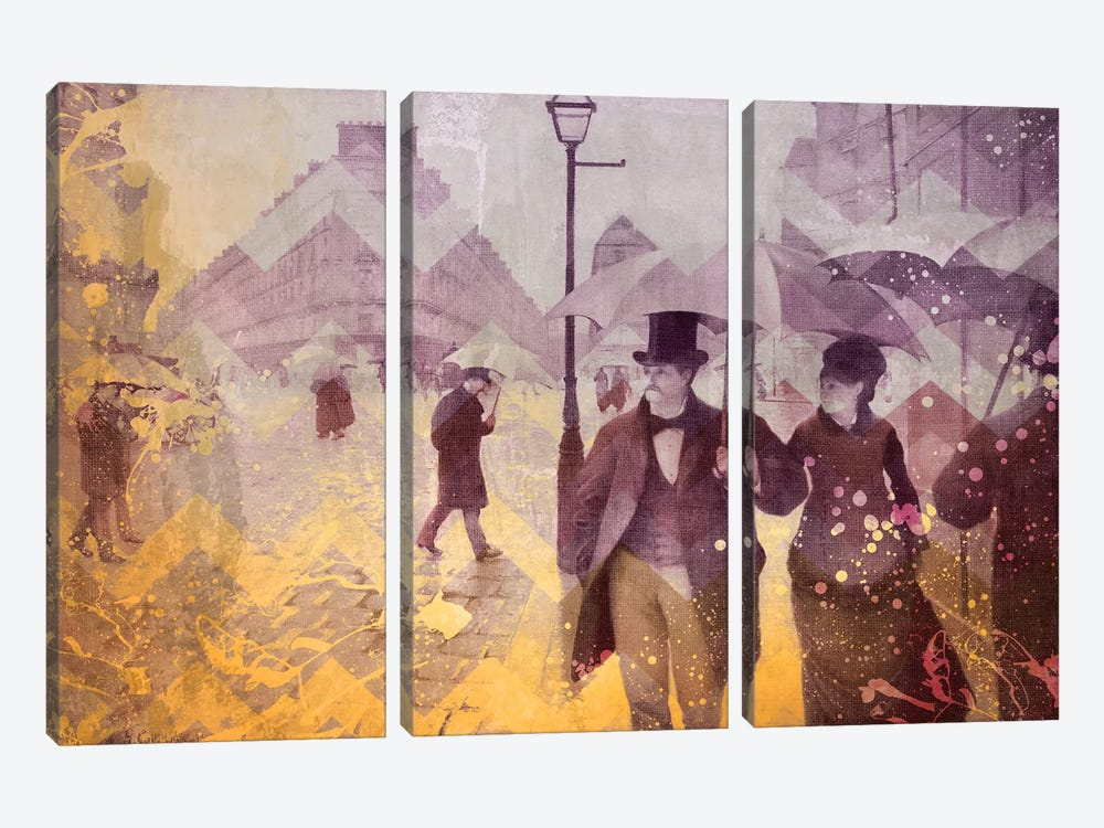 Paris Street IV by 5by5collective 3-piece Art Print