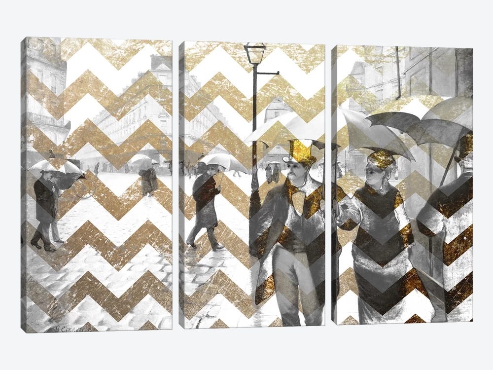 Paris Street VII by 5by5collective 3-piece Canvas Print