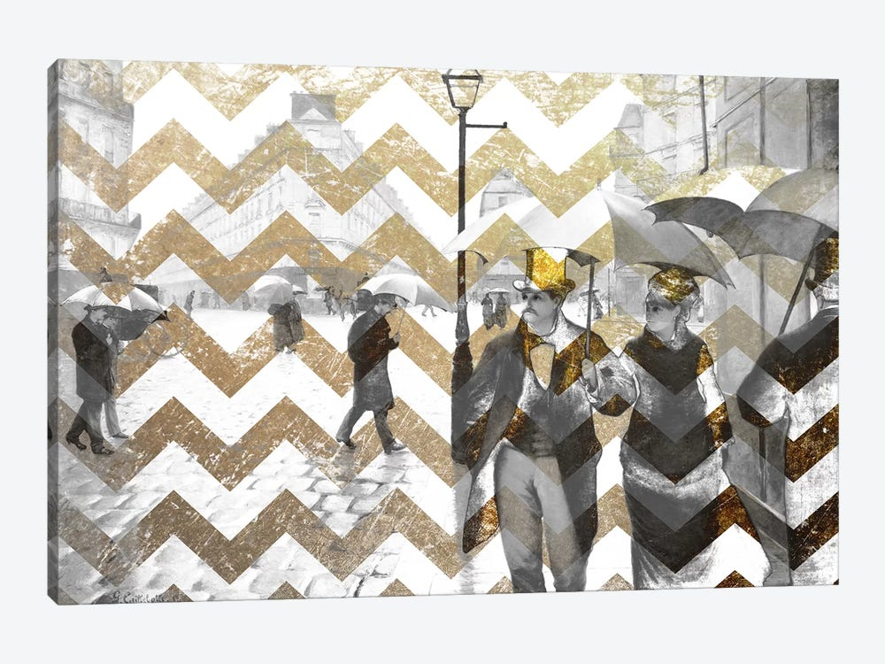 Paris Street VII by 5by5collective 1-piece Canvas Art Print
