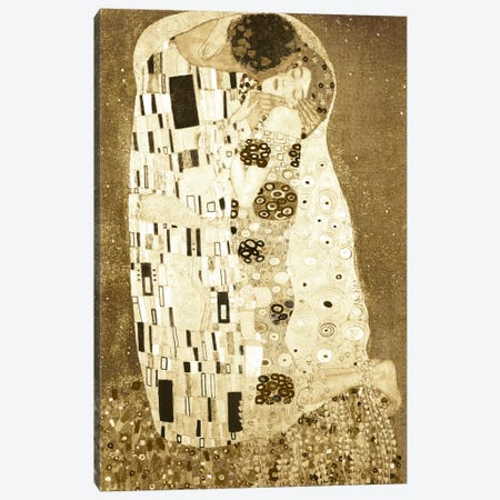 The Kiss I Canvas Print #CML22} by 5by5collective Canvas Artwork