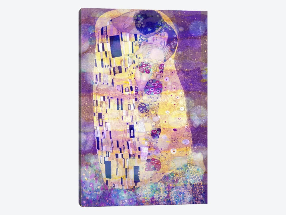 The Kiss II by 5by5collective 1-piece Canvas Art Print
