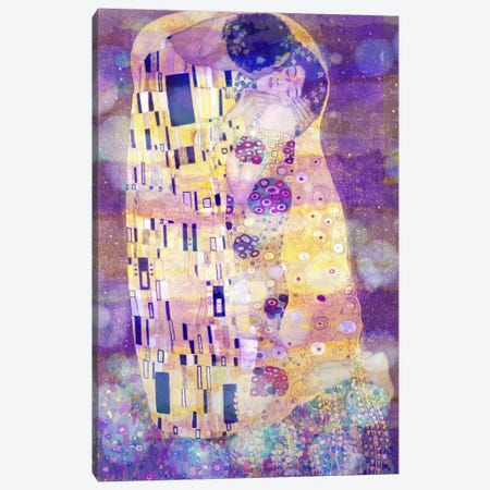 The Kiss II Canvas Print #CML23} by 5by5collective Canvas Art