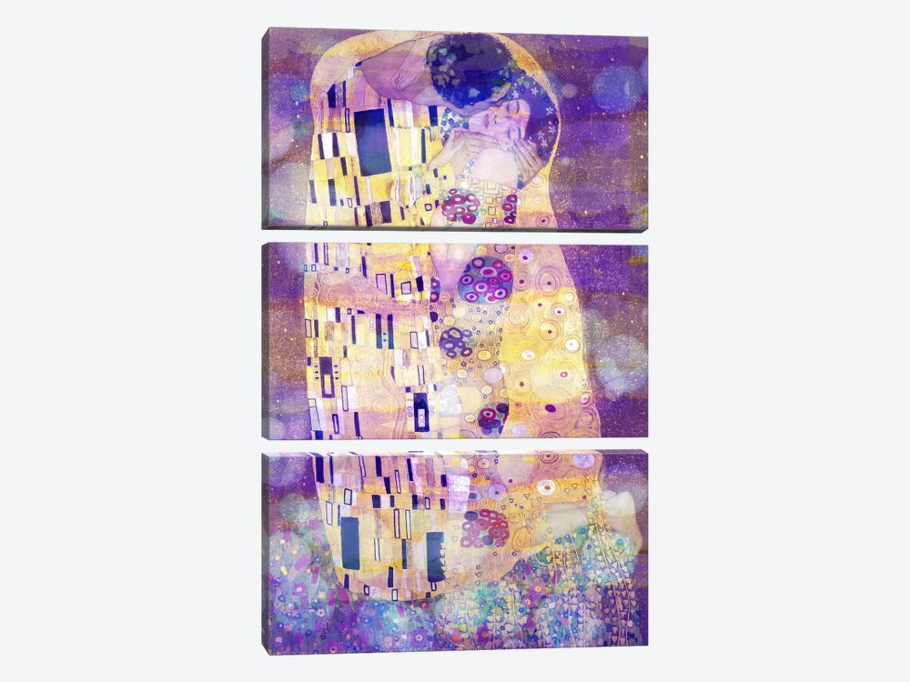 The Kiss II by 5by5collective 3-piece Canvas Art Print