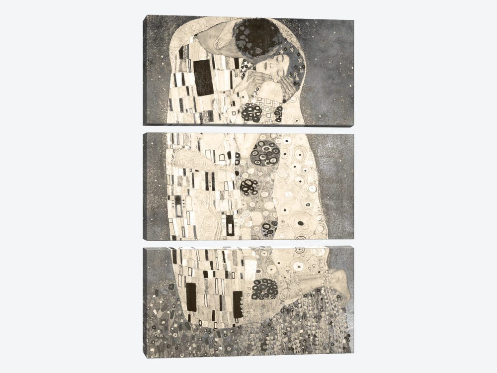 The Kiss IV by 5by5collective 3-piece Canvas Print
