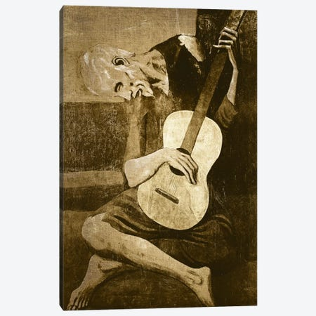 The Old Guitarist I Canvas Print #CML27} by 5by5collective Canvas Art Print