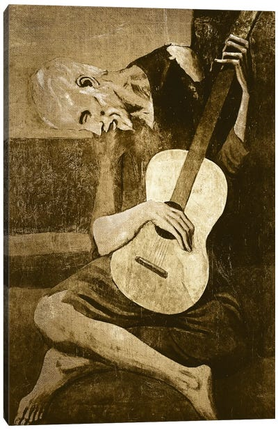 The Old Guitarist I Canvas Art Print