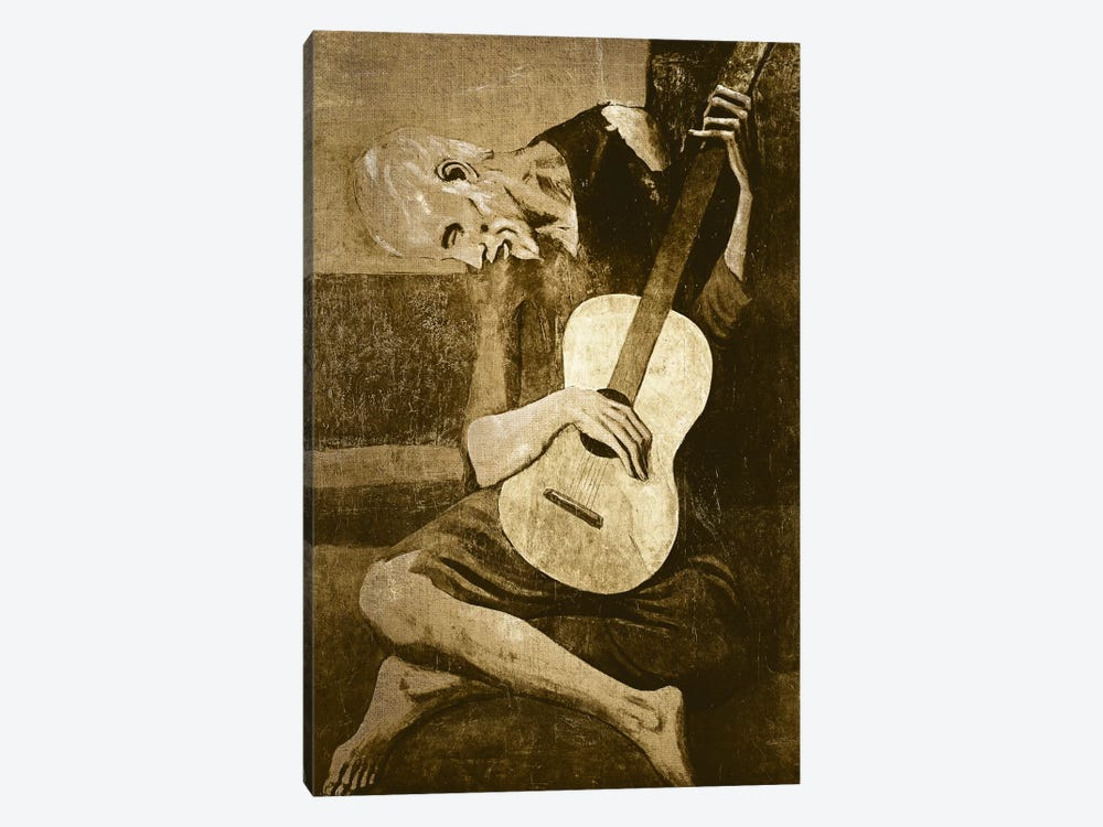 The Old Guitarist I by 5by5collective 1-piece Canvas Print