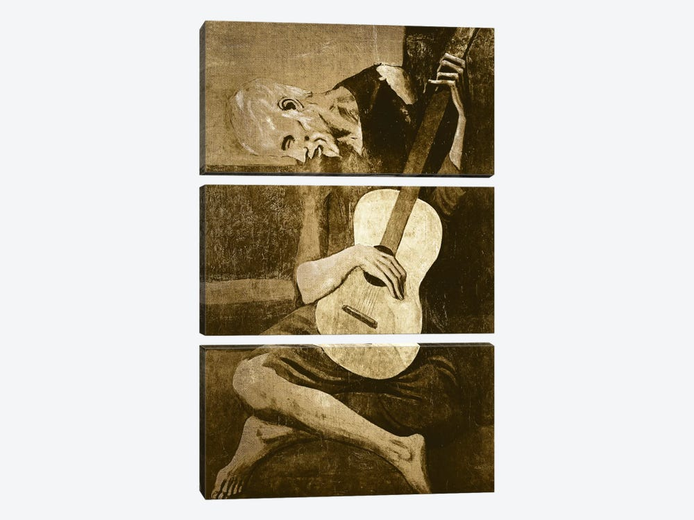 The Old Guitarist I by 5by5collective 3-piece Art Print