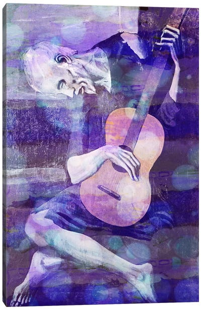The Old Guitarist II Canvas Print #CML28