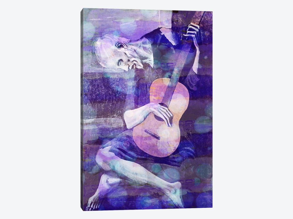 The Old Guitarist II by 5by5collective 1-piece Canvas Wall Art