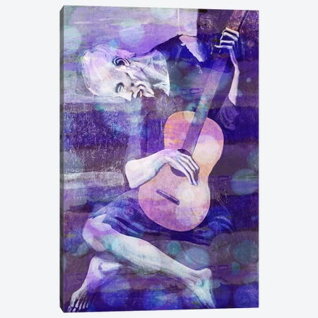 The Old Guitarist II Canvas Print #CML28} by 5by5collective Canvas Artwork