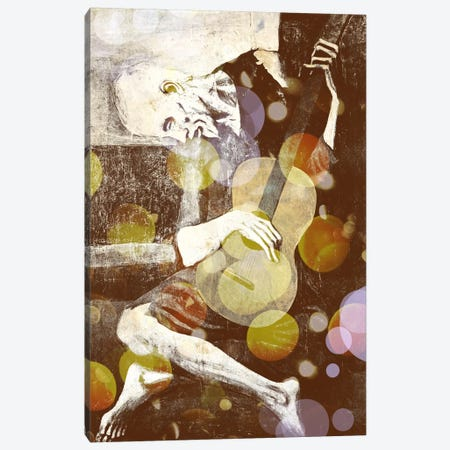 The Old Guitarist III Canvas Print #CML29} by 5by5collective Canvas Artwork