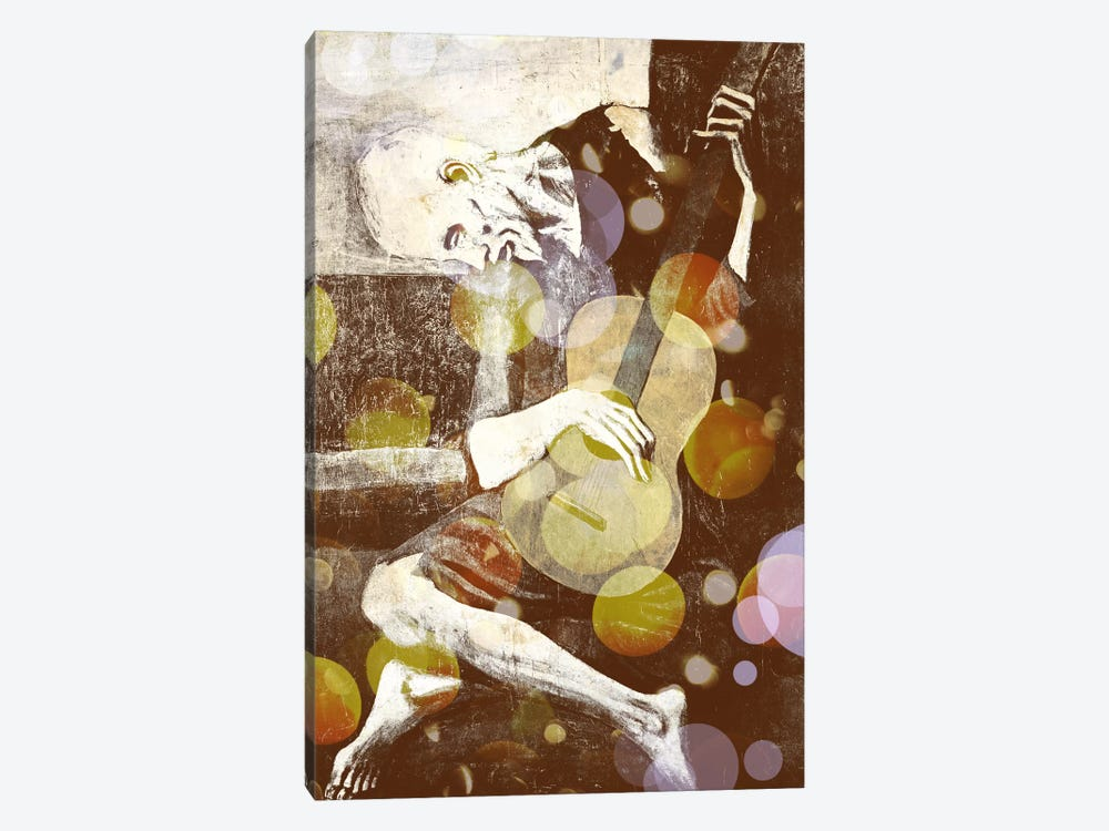 The Old Guitarist III by 5by5collective 1-piece Canvas Art Print