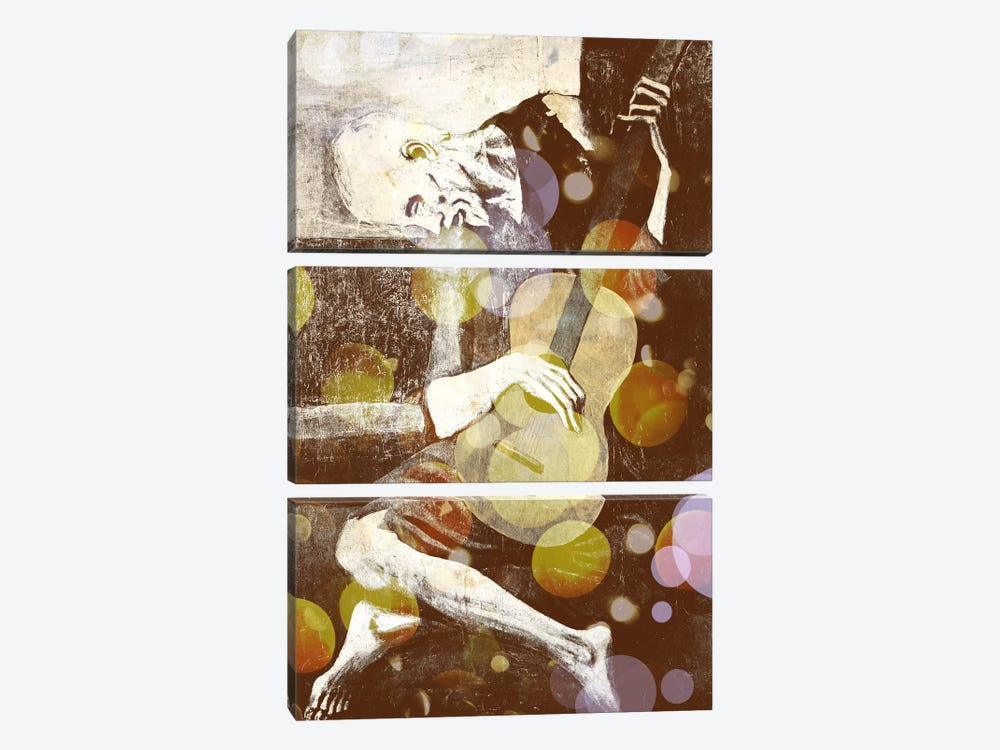 The Old Guitarist III by 5by5collective 3-piece Art Print