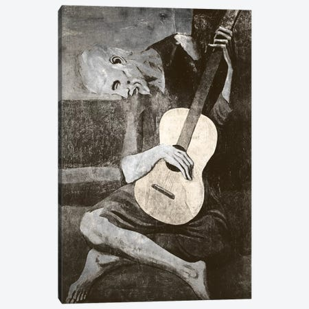 The Old Guitarist IV Canvas Print #CML30} by 5by5collective Canvas Art Print