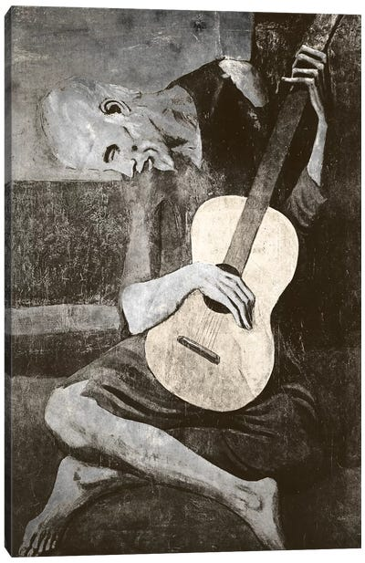 The Old Guitarist IV Canvas Print #CML30
