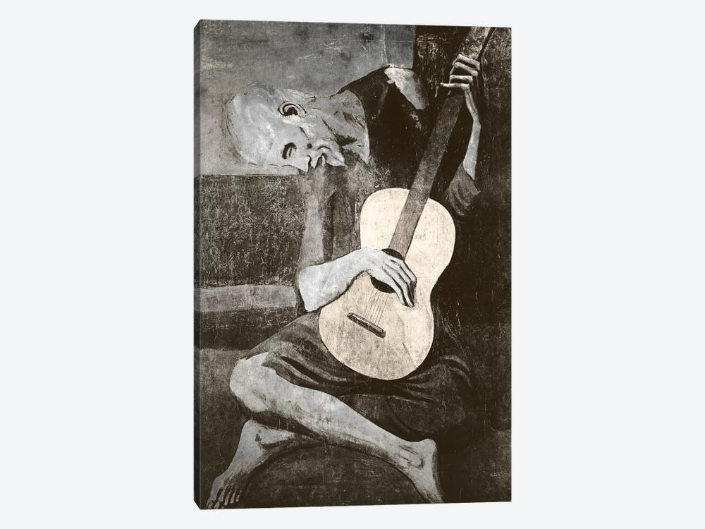 The Old Guitarist IV by 5by5collective 1-piece Canvas Print
