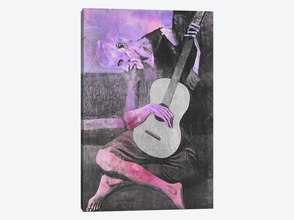 The Old Guitarist V by 5by5collective 1-piece Canvas Art
